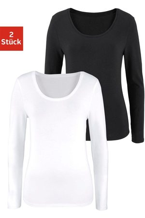vivance collection Shirt met lange mouwen (set van 2)