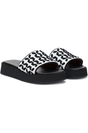 Alaïa Knit platform sandals