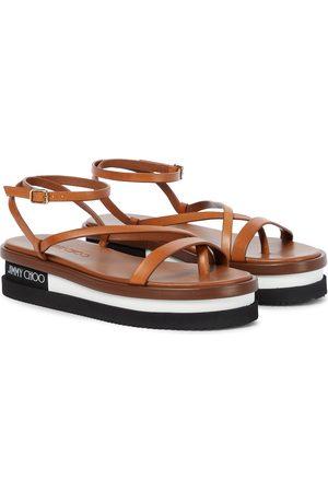 Jimmy Choo Pine flatform leather sandals