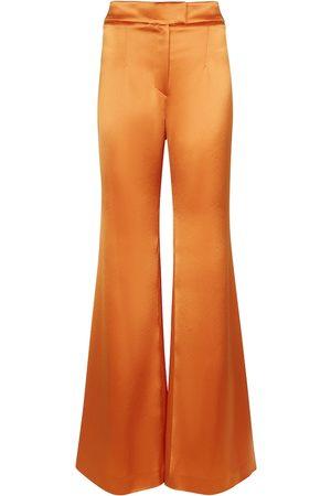 GALVAN Julianne high-rise wide satin pants