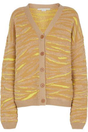 Stella McCartney Zebra-jacquard wool-blend cardigan
