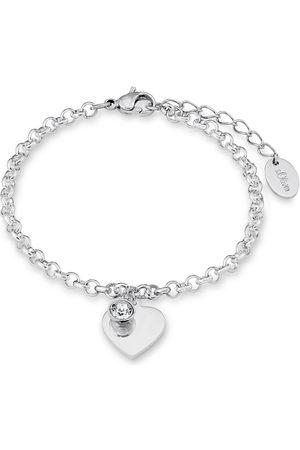 s.Oliver S.OLIVER armsieraad: armband met Swarovski®-kristal, »hart, SO1346/1«