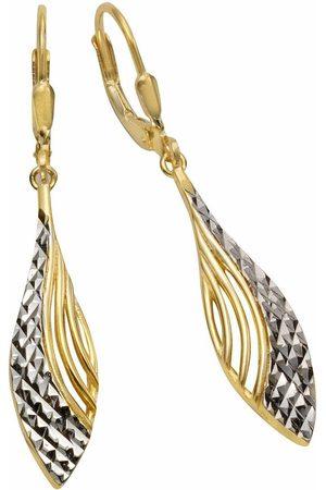 Firetti Paar oorhangers »Tropfenform, zweifarbig, strukturiert«