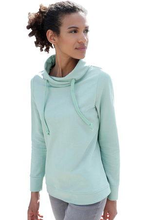 Classic Basics Casual Looks sweatshirt met asymmetrische kraag