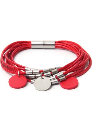 J. Jayz Dames Armbanden - Armband »rot, rund, bicolor, mehrreihig«