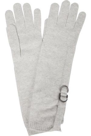 Brunello Cucinelli Embellished cashmere gloves