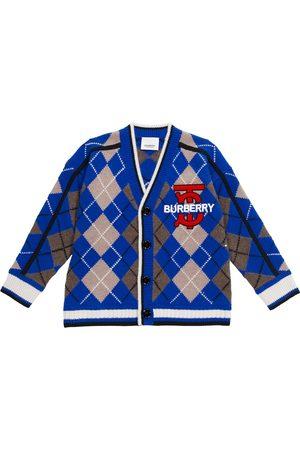 Burberry Jongens Cardigans - Argyle wool-blend cardigan