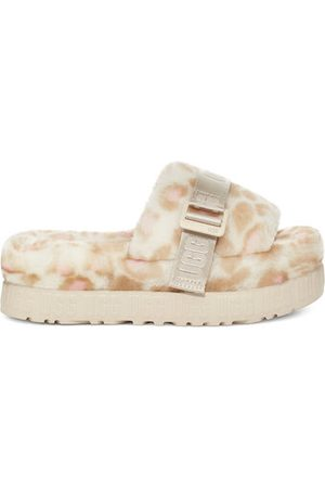 UGG W Fluffita Panther Print voor Dames in White, maat 5