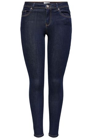 ONLY Onlwauw Life Mid Skinny Fit Jeans Dames Blauw