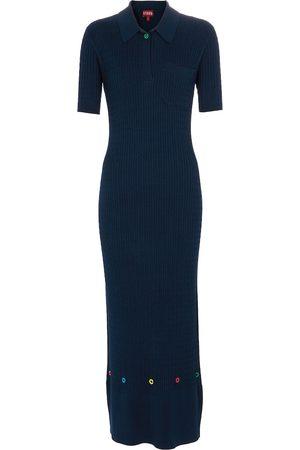 Staud Cecily cotton-blend knit dress