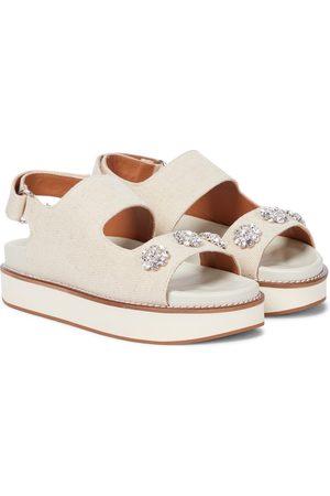 Ganni Embellished flatform sandals