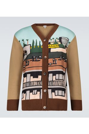 Loewe Ken Price LA Series silk paneled cardigan
