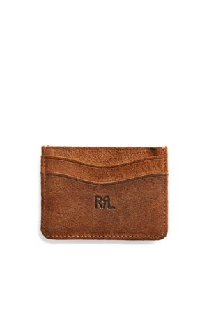 RRL Roughout Suede Card Holder