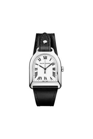 The Stirrup Collection Medium Steel White Dial
