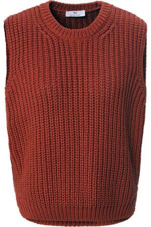 Peter Hahn Dames Tanktops - Mouwloze trui ronde hals en zijsplitjes Van