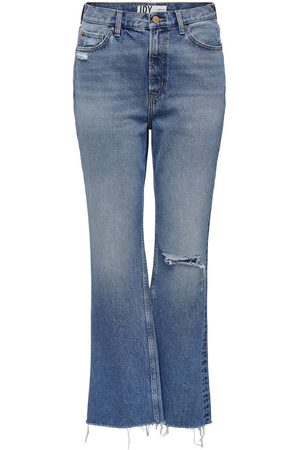 ONLY Dames Bootcut - Jdydichte Life Hw Wide Raw Flared Jeans Dames Blauw