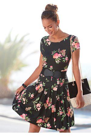 Vivance Gedessineerde jurk met bloemmotief