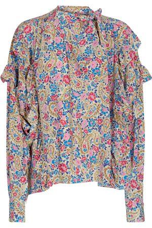 Isabel Marant Libelzia floral stretch-silk blouse