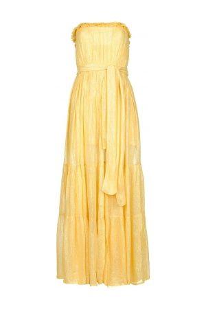 sundress Strapless lurex jurk Jonquille