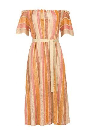 sundress Off-shoulder maxi jurk Bella Long