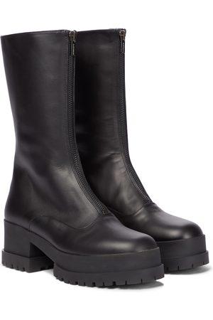 Robert Clergerie Dames Enkellaarzen - Wallies leather boots
