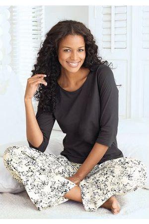 s.Oliver RED LABEL Beachwear Dames Pyjama's - Pyjama met fijn bloemmotief