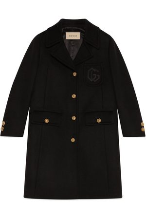 Gucci Double G embroidery wool coat