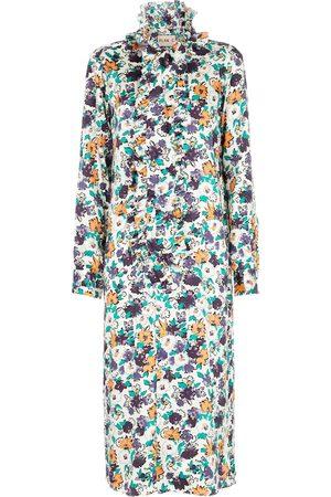 Plan C Dames Geprinte jurken - Floral midi dress