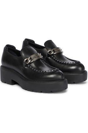 Miu Miu Chunky leather loafers