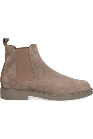 Manfield Taupe suède chelsea boots