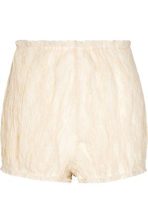 Khaite Hilary cotton and silk-blend shorts