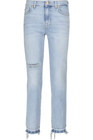 7 for all Mankind The Straight Crop mid-rise jeans