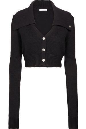 Helmut Lang Cropped cotton and wool cardigan