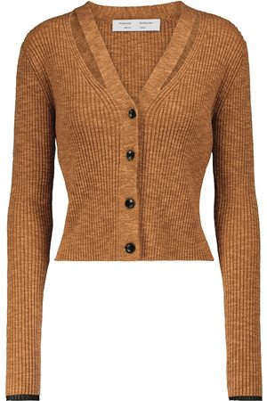 Proenza Schouler Dames Cardigans - White Label ribbed-knit cardigan