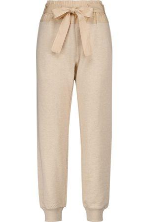 ULLA JOHNSON Dames Joggingbroeken - Haven knitted cotton sweatpants