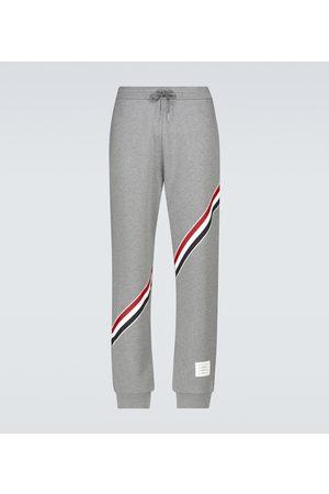 Thom Browne Sweatpants with diagonal stripe
