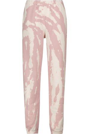 Les Tien Tie-dye cotton fleece sweatpants