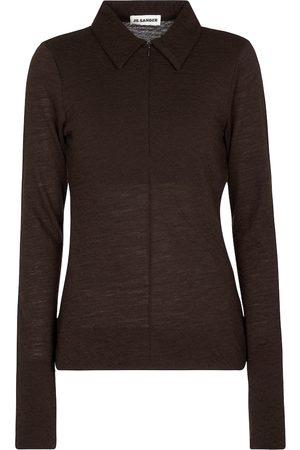 Jil Sander Wool-blend polo sweater