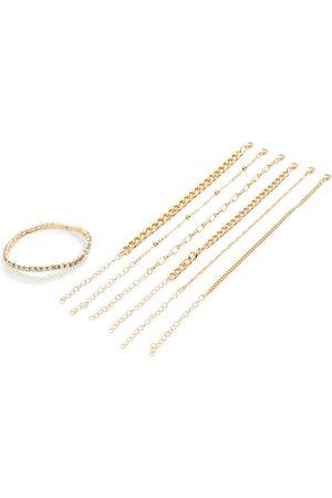 Primark Goldtone friendship chain bracelet set 8 pack