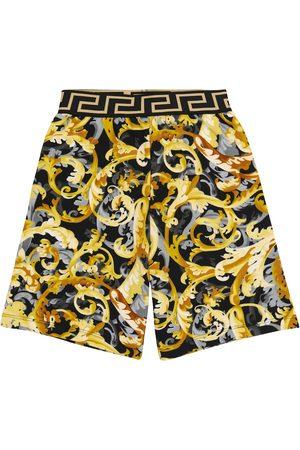 VERSACE Baroccoflage-print cotton shorts