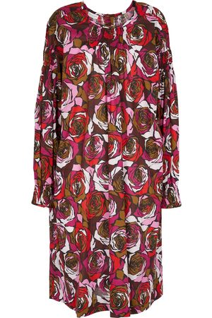 DRIES VAN NOTEN Floral cotton minidress