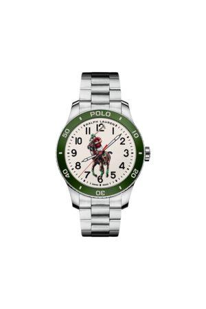 Polo Ralph Lauren Heren Horloges - Polo Watch Green Dial Steel Bracelet