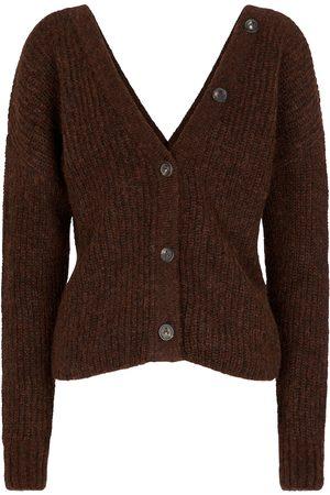 Alanui Ribbed-knit alpaca-blend cardigan