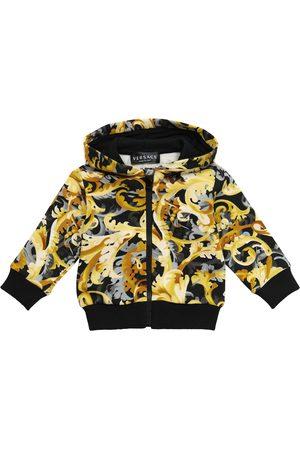 Versace Kids Sweaters - Baby printed cotton zip-up hoodie
