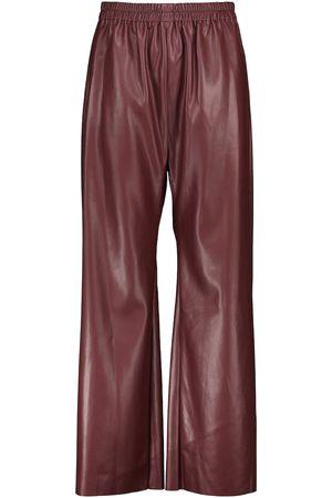 Deveaux New York Savannah faux leather wide-leg pants