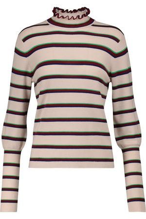 Chloé Dames Sweaters - Striped wool mockneck sweater