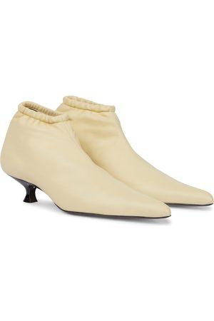 Khaite Volus leather ankle boots