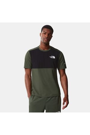 The North Face The North Face Mountain Athletics Hybrid-t-shirt Voor Heren Thyme/tnf Black Größe L Heren
