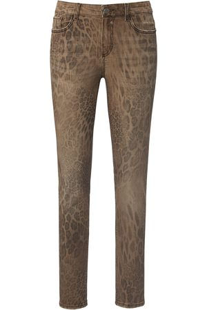 Glücksmoment Dames Skinny - Skinny-jeans model Gill luipaardprint Van