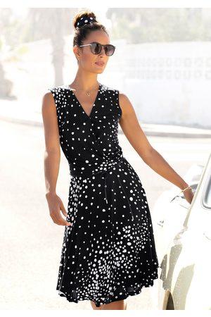 Vivance Dames Geprinte jurken - Jerseyjurk met stippenprint (Met een bindceintuur)